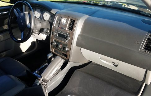 2007 black 120-inch chrysler 300 limousine for sale driver compartment