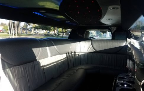 2007 black 120-inch chrysler 300 limousine for sale j-seating