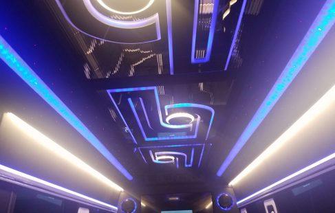 2016 black mercedes benz 3500 ceiling color change blue