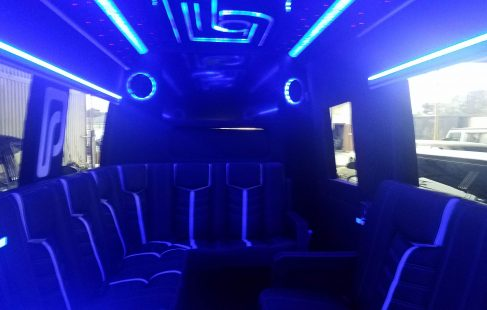 2016 black mercedes benz 3500 luxury ceiling and tv view