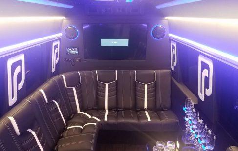 2016 black mercedes benz 3500 luxury sprinter with big tv