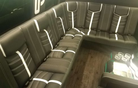 2016 black mercedes benz 3500 luxury sprinter with l-shape seating