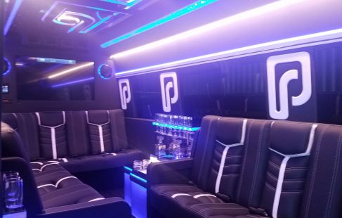 2016 black mercedes benz 3500 tv bar and seating