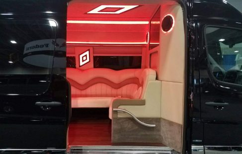 mercedes benz 3500 sprinter limo door open