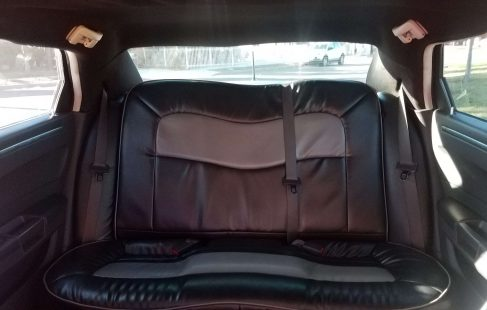 2008 cool vanilla 140-inch chrysler 300 limo rear bench seat