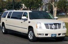 white 100-inch cadillac escalade limousine #1283