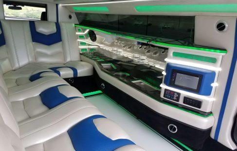2017 white convertible chevy camaro 140-inch limousine bar