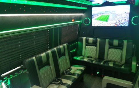 Mercedes Benz Sprinter Limo Van interior pictures