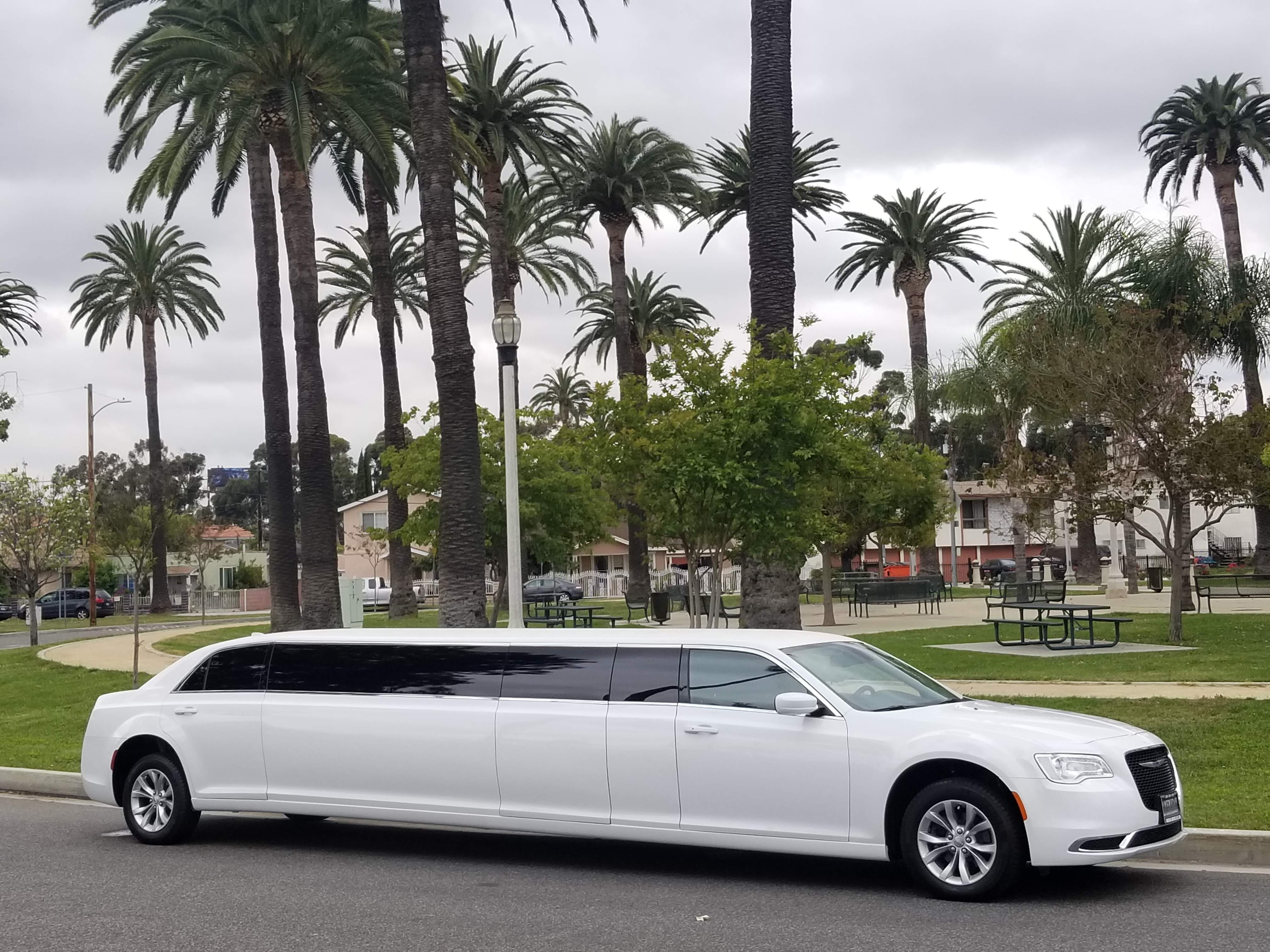 2018 Chrysler 300 White Fifth Door 140-inch Limo #1255