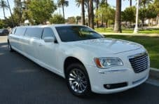 2011 White chrysler 300 limousine for sale