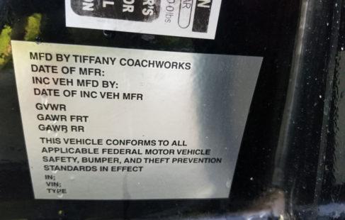 Tiffany coachworks door sticker