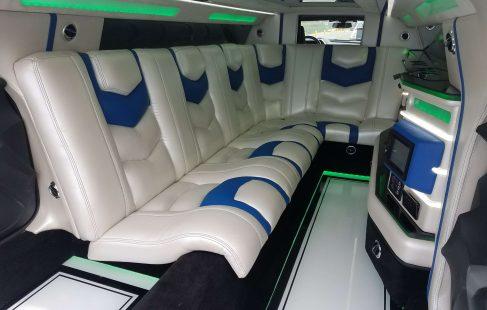 convertible chevy camaro 140-inch limousine interior