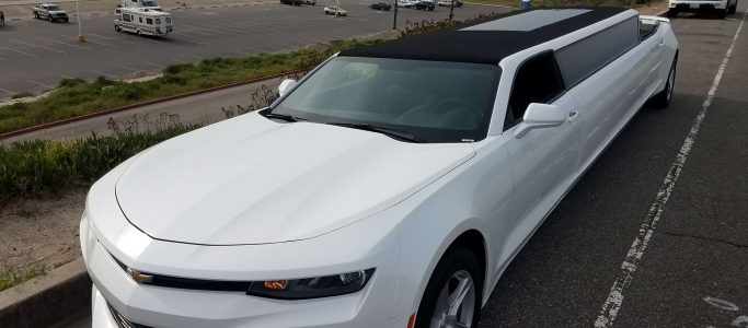 convertible chevy camaro 140-inch limousine left front #22662