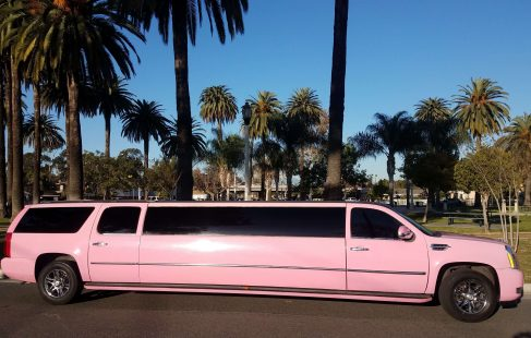 pink 140-inch gmc yukon xl limousine for sale #1438