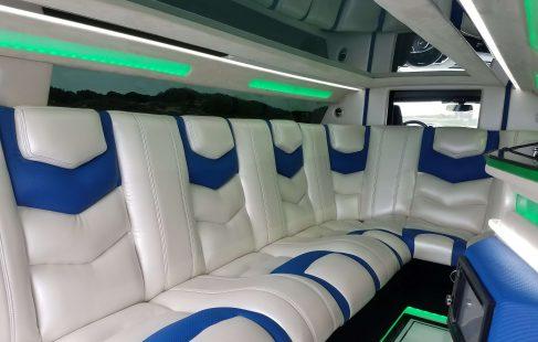 white convertible chevy camaro 140-inch limousine